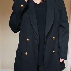 Vintage Nautical Black Blazer